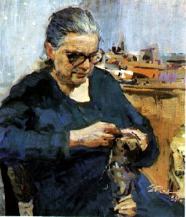Mother's portrait. 1957