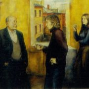 My contemporaries. 1974. Oil, canvas. USSR Ministry of culture