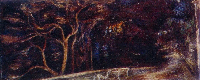 Night Embankment. 1977. Oil on canvas