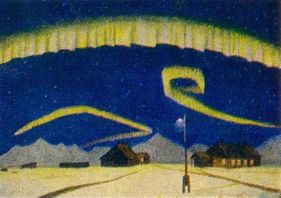 Northern Lights. Oil on canvas. Arkhangelsk museum of fine arts