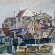 Old Novosibirsk. 1977. Hardboard, Oil