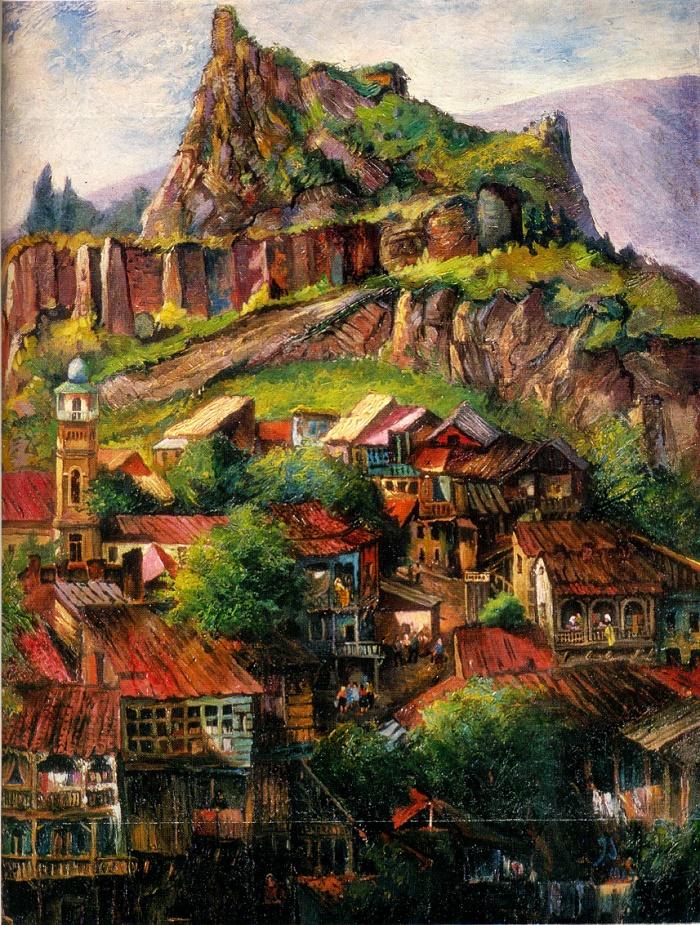 Old Tbilisi. 1969. Oil on canvas