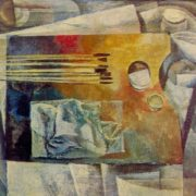 Palette. 1969. Oil on canvas. Art Fund of the Latvian SSR