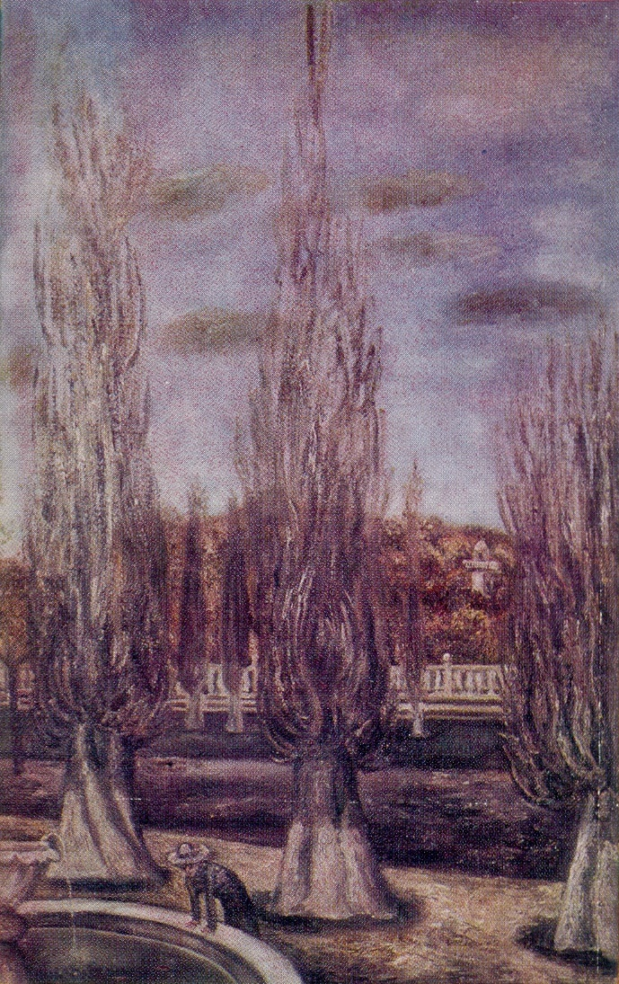 Poplars. 1974. Oil on canvas