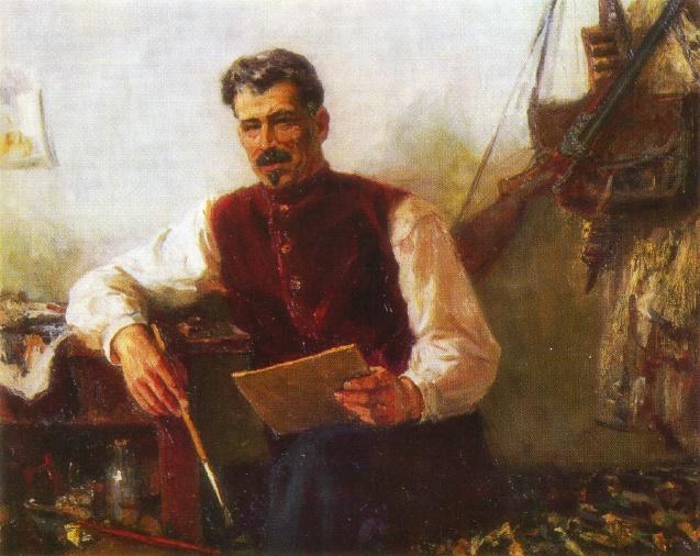 Portrait of M.B. Grekov by G. Prokopinsky