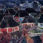 Rainy day. 1970. Oil on canvas