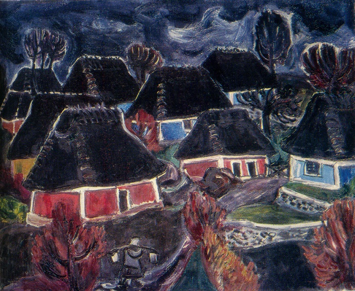 Rainy day. 1970. Oil on canvas