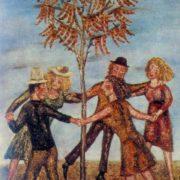 Round dance. 1974. Oil on canvas