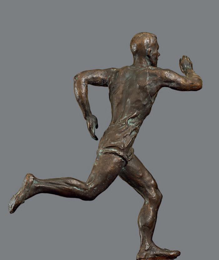 Running. 1945. Bronze, pedestal - wood