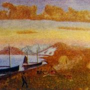 Rusanov's Camp. 1950s. Canvas, oil. Arkhangelsk Museum of Fine Arts