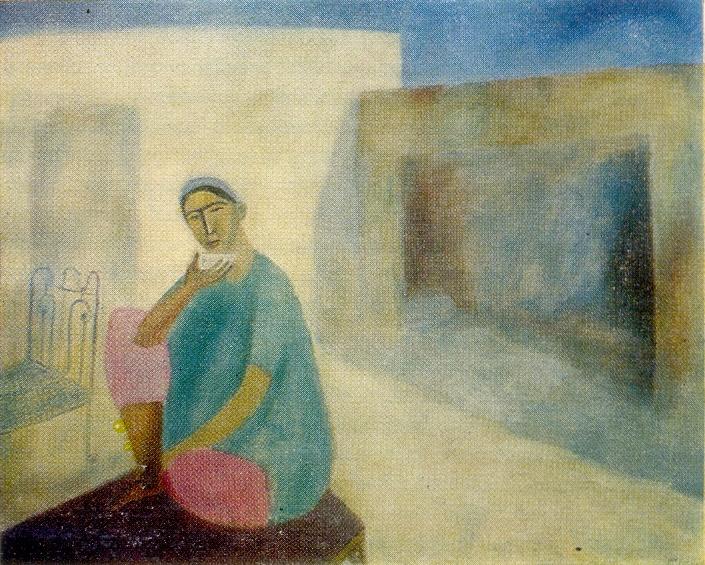 Samarkand. Yard. 1968. Oil, canvas