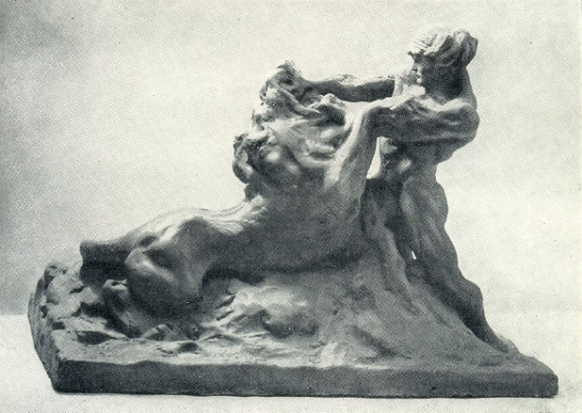 Samson, tearing the jaws of a lion. 1907