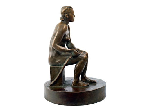 Seated. 1950's. Bronze
