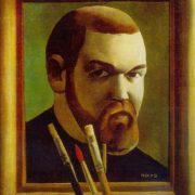 Self-portrait. 1975. Oil on canvas. Daugavpils Local History and Art Museum