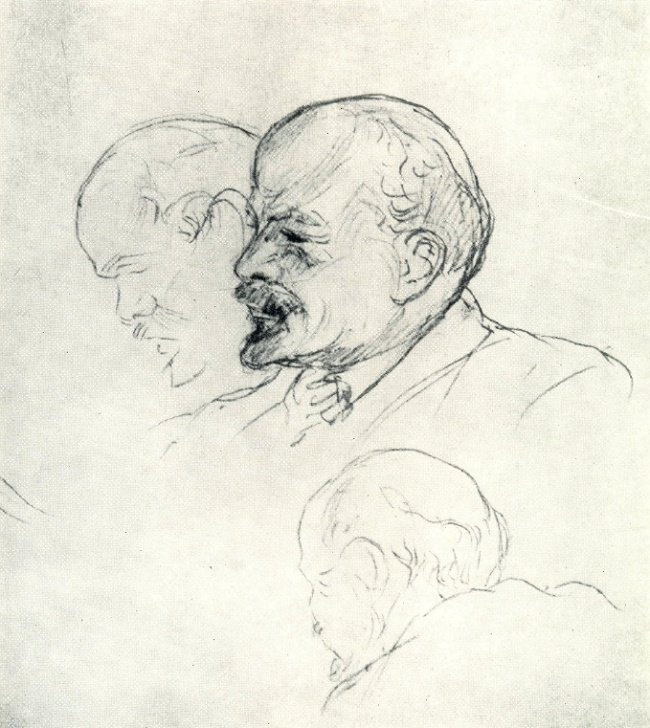 Series of drawings from life - Lenin. 1918
