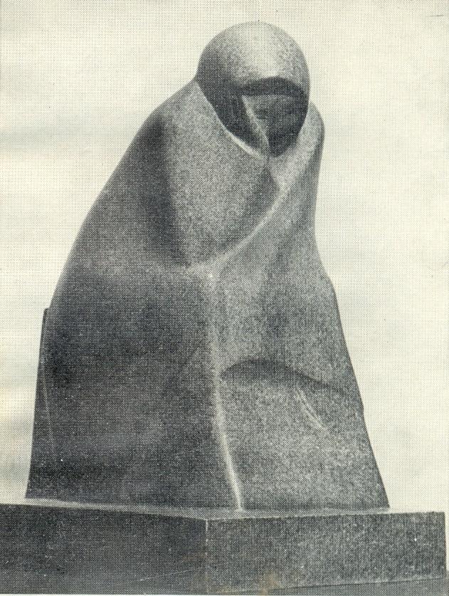 Sitting old woman. 1916