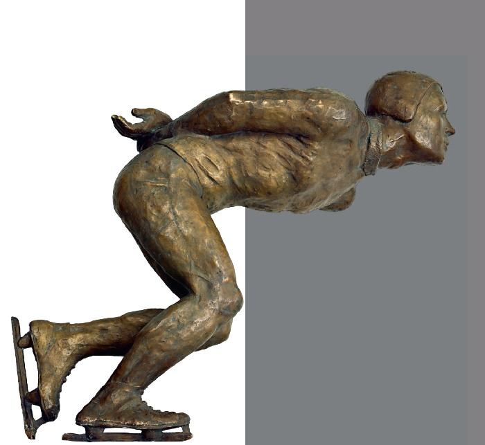 Skater. 1940. Bronze