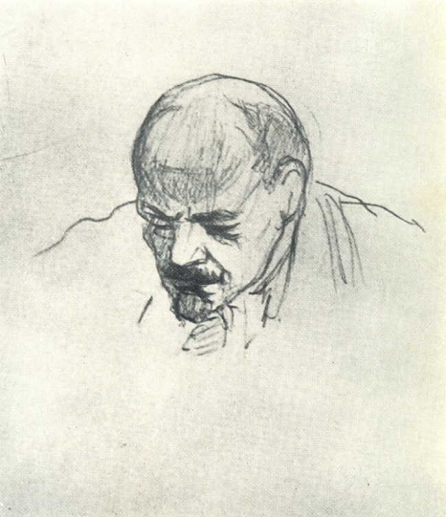 Sketch from life - Lenin. 1918