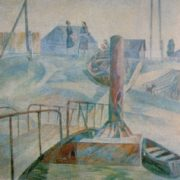 Small bridge. 1977. Canvas, synthetic tempera