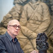 Soviet Russian sculptor Mikhail Pereyaslavets