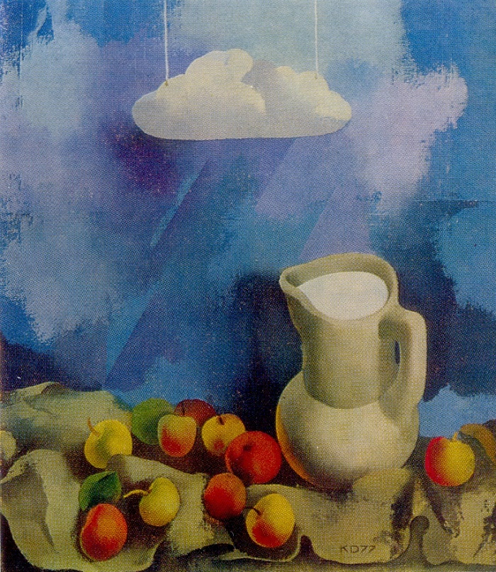 Still life with decoration. 1977. Oil on canvas. Daugavpils Local History and Art Museum