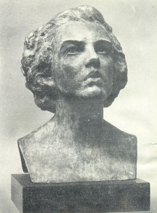 Student of Malda. 1956. Bronze. Historical and Art Museum in Liepaja
