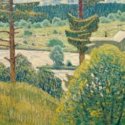 Summer. Pines. 1969. Canvas, tempera