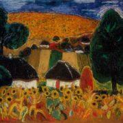 Sunflowers. 1968. Oil on canvas
