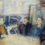 Tea drinking in Polenovo. 1973. Oil on canvas