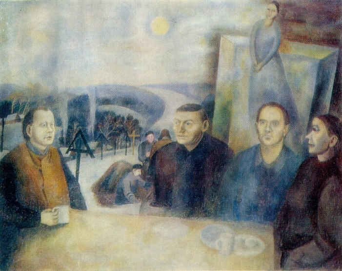 Tea drinking in Polenovo. 1973. Oil on canvas