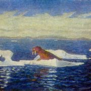 The Barentsevo sea. 1950s. Canvas, oil. Arkhangelsk Museum of Fine Arts
