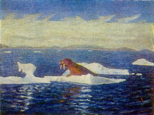 The Barentsevo sea. 1950s. Canvas, oil. Arkhangelsk Museum of Fine Arts