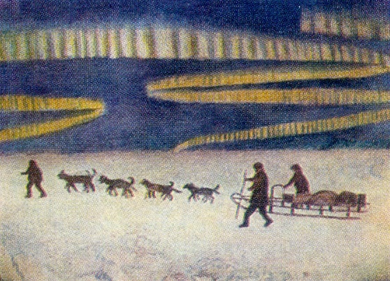 The last way of Sedov. 1959. Oil on canvas. Arkhangelsk Museum of Fine Arts