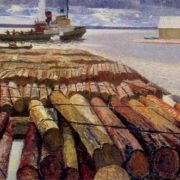 The raft is ready. Canvas, oil. 1964