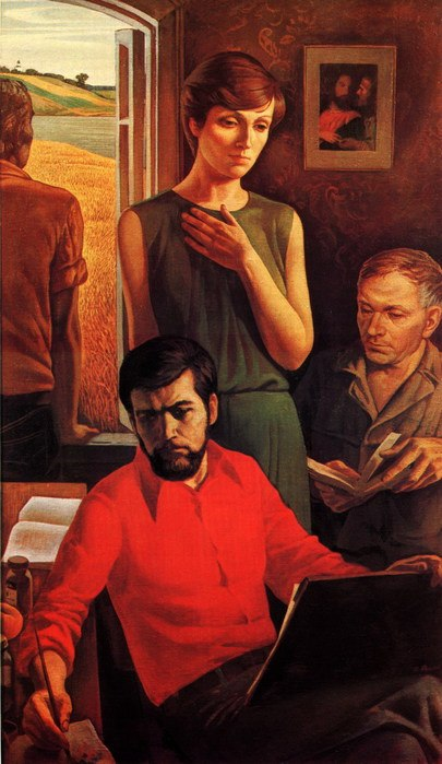 Triptych 'Cinema'. The idea (in the center - Larisa Shepitko)