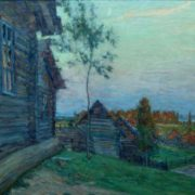 Twilight in the village. 1941