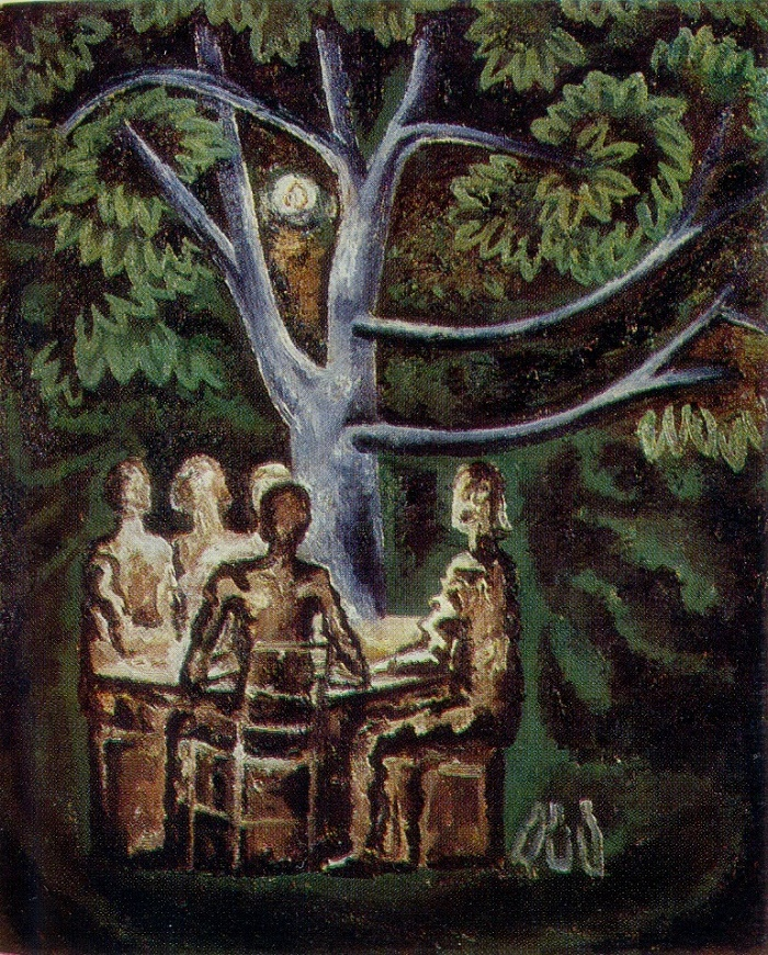 Under a tree in Bulgaria. 1978. Oil on canvas