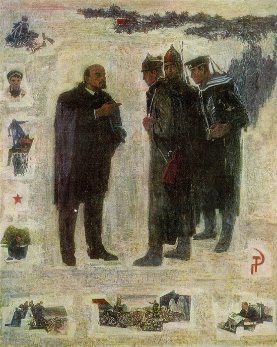V.I. Lenin. 1969. Oil canvas. State art museum of Estonian SSR, Tallin. Soviet Estonian artist Elmar Yanovich Kits (1913-1972)