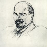 V.I. Lenin. Drawing from life. 1918