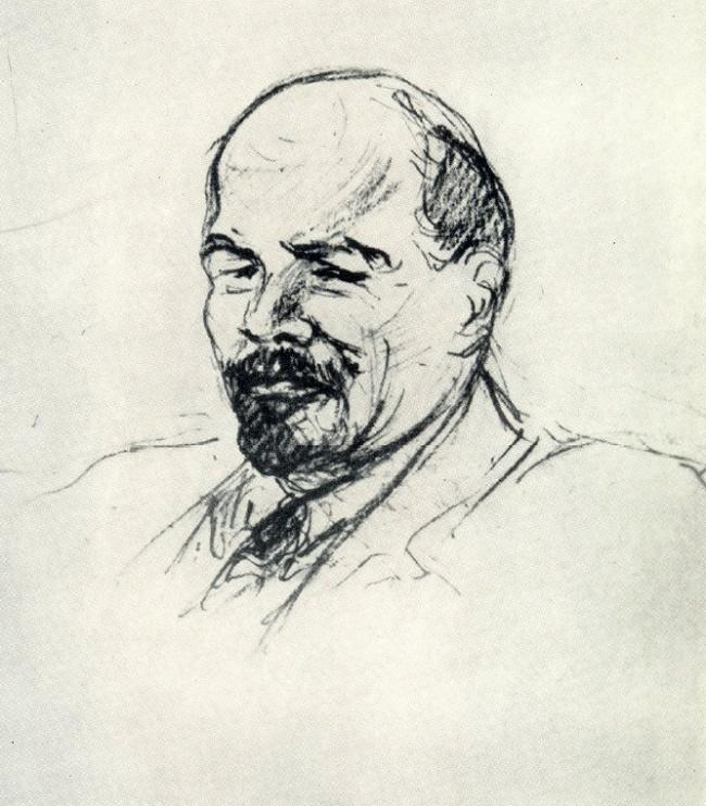 V.I. Lenin. Drawing from life. 1918