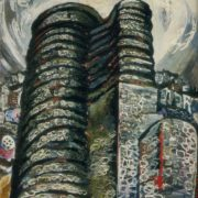 Virgin Tower. 1965. Oil, canvas. Art museum, Baku