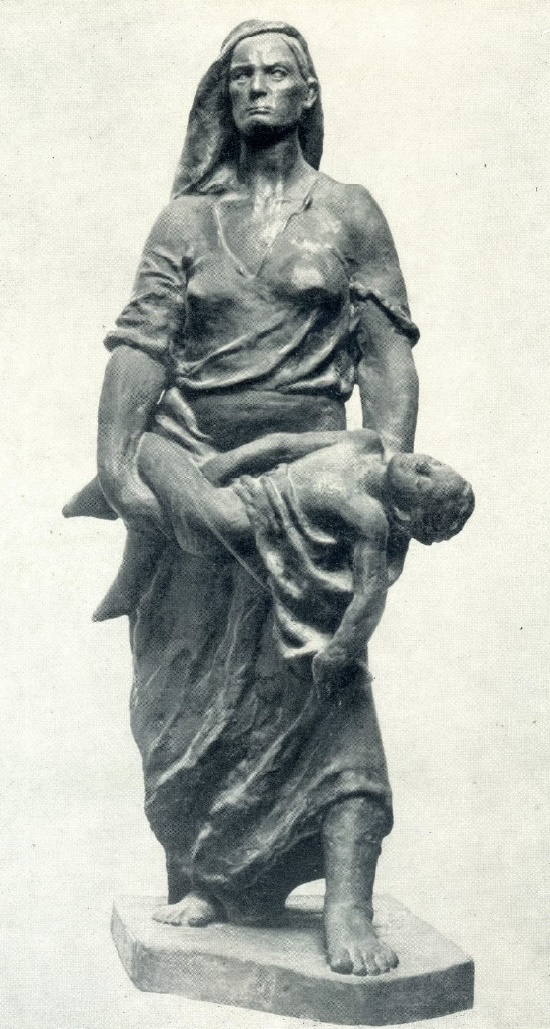 Soviet Georgian sculptor Tamara Abakelia (September 1, 1905 - May 14, 1953)