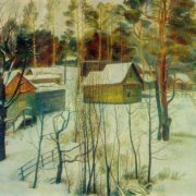 Winter in Tarusa. Oil, canvas. 1971