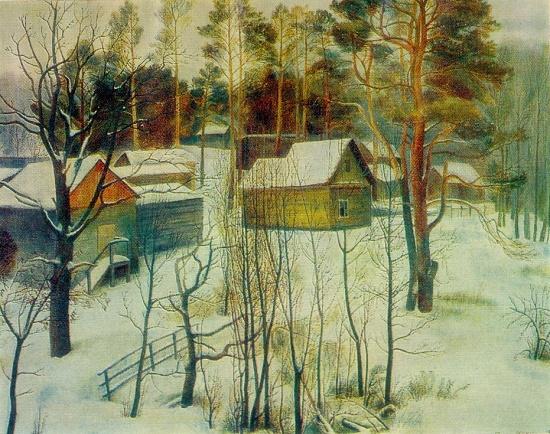 Winter in Tarusa. Oil, canvas. 1971
