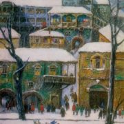 Winter in Tbilisi. 1969. Oil on canvas