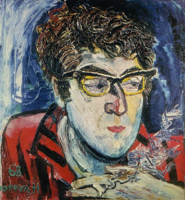 Writer Anar. 1968. Oil, canvas. Art fund of Azerbaijan
