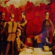 Young soldiers. 1972. Oil on canvas. Ministry of culture of the Latvian SSR