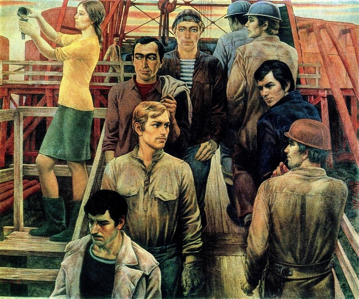 Yuri Mikhailovich Raksha (1937 - 1980). Our drilling. 1972 - 1975