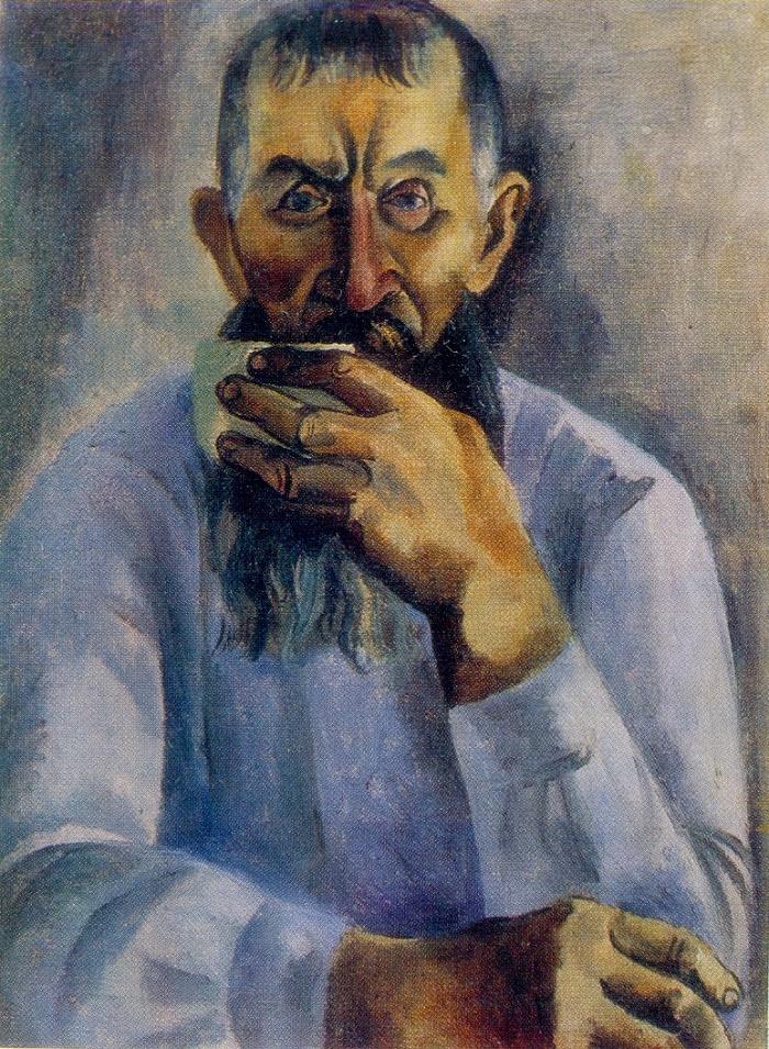 portrait of man. 1970. Oil, canvas