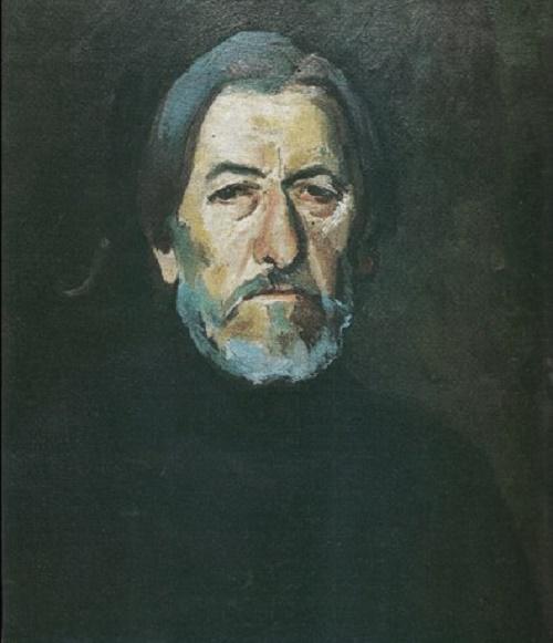 1985 Self-portrait. Soviet Russian artist Vyacheslav Tokarev
